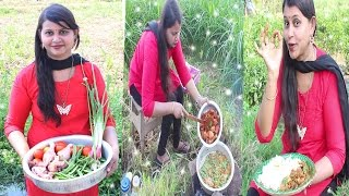 Beautiful Girl Cooking Chicken Curry Recipe | Andra Style Chicken Broad Beans Recipe | Village Food