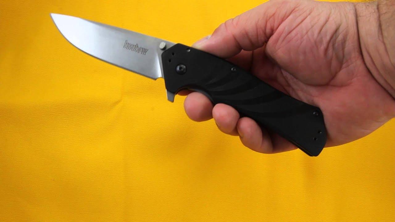 kershaw piston knife 1860 video demo youtube