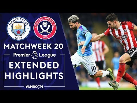 Manchester City V. Sheffield United | PREMIER LEAGUE HIGHLIGHTS | 12/29/19 | NBC Sports