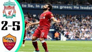 ملخص مباراة ليفربول وروما 5-2 ثنائية الملك صـ ـلاح - جنون رؤوف خليف