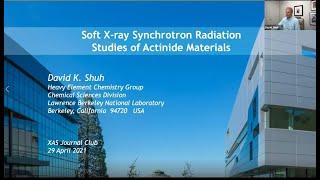 Soft X-ray Synchrotron Radiation Studies of Actinide Materials: XAS Journal Club, David Shuh screenshot 5