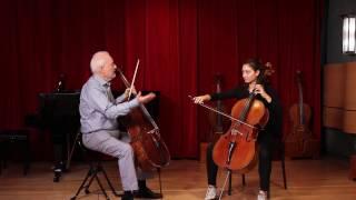 CelloBello Lesson with Paul Katz: Tchaikovsky Rococo, Variations 1 & 2 (Bow)