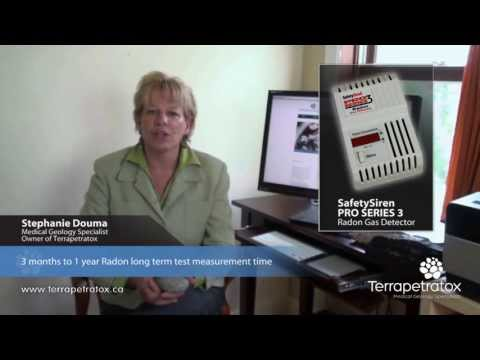 Testing for Radon Video: Long Term Test  Terrapetratox  Medical Geology Specialists