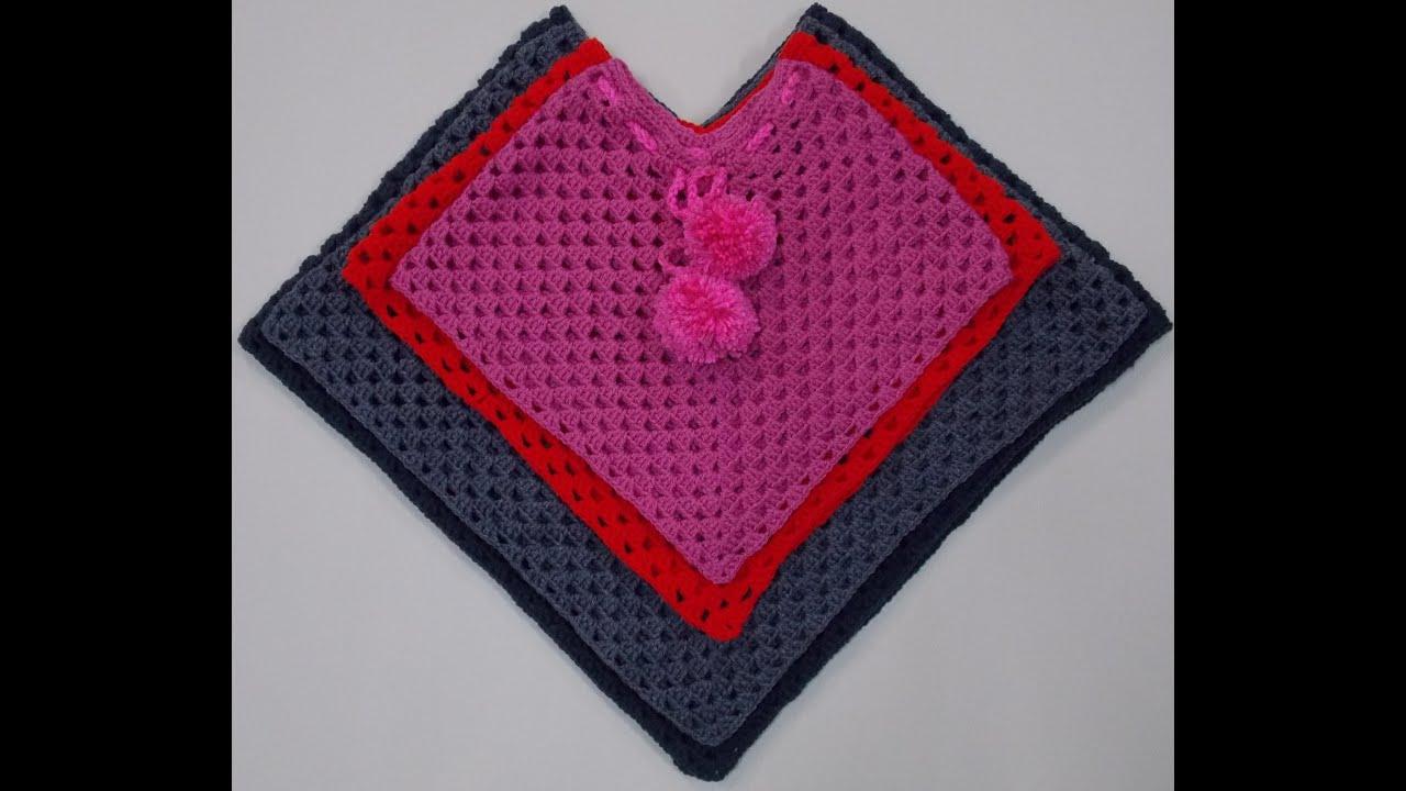 Child Poncho Crochet Tutorial Youtube