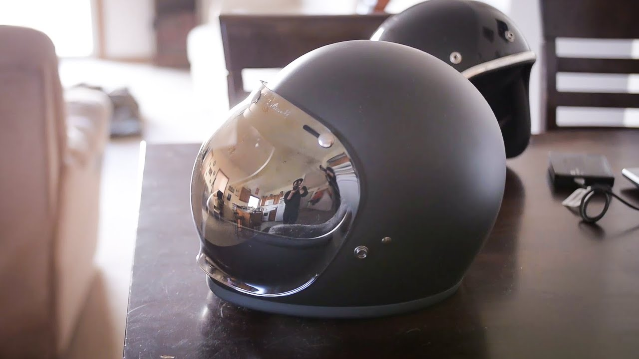 0834c844 Biltwell Gringo Helmet REVIEW and HANDS ON (with bubble shield ...