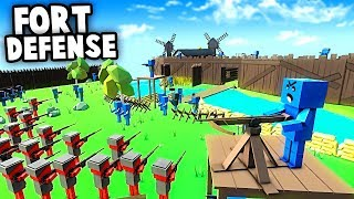 DEFEND the FORT!  Epic Fort Defense vs INVASION (Ancient Warfare 3 Gameplay)