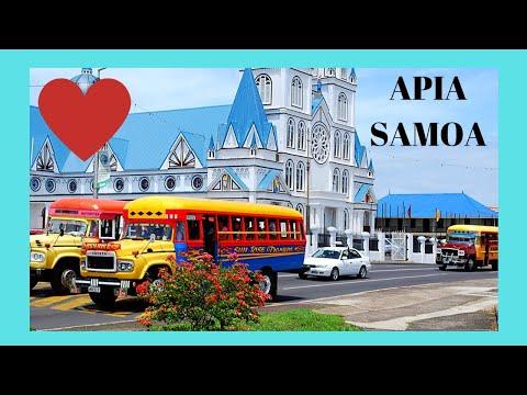 SAMOA, driving around its beautiful capital APIA by bus