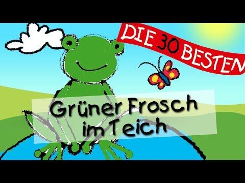 Hm hm macht der grüne Frosch im Teich - Die besten Spiel - und Bewegungslieder    Kinderlieder
