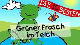 Hm hm macht der grüne Frosch im Teich - Die besten Spiel - und Bewegungslieder || Kinderlieder