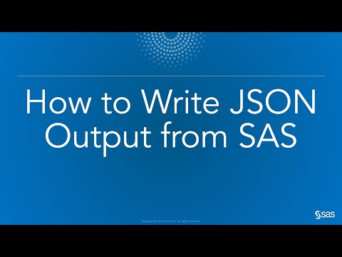How to Write JSON Output from SAS