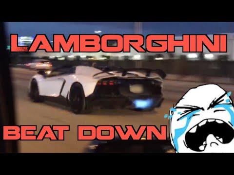 Kids in Lamborghini get SPANKED by Turbo Supra on Highway!