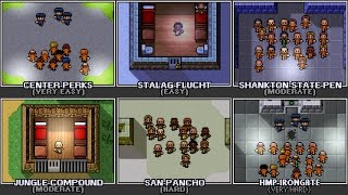 The Escapists - All Main Prisons (Escapes Only)
