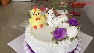 Bánh kem gà và ngựa là đôi bạn thân-Chicken and horse cakes are good friends