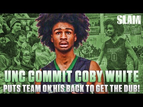 UNC Commit Coby White PUTS TEAM ON HIS BACK to get the DUB at John Wall Holiday Invitational!