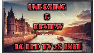 """UNBOXING + REVIEW LG LED TV 28"""""""