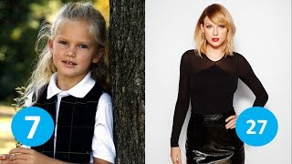 Taylor Swift before and after | From 1 to 27 years old