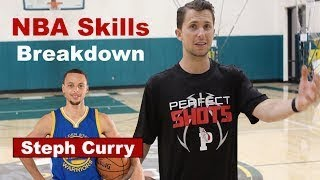 NBA Skills Breakdown - How to create separation like Steph Curry (Dribble move into Jumper)