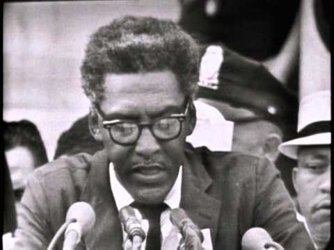 Bayard Rustin speaking at the March on Washington