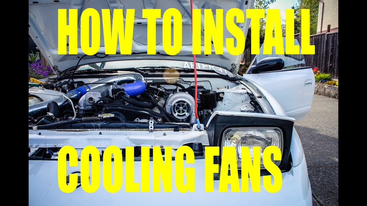 Nissan 240sx S13 How To Install Cooling Fans Youtube Radiator Fan Wiring