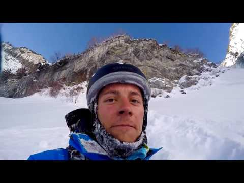 Skier Hucks Big Cliff By Mistake and Somehow Survives