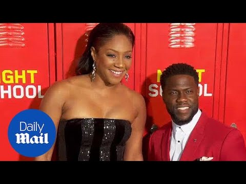 Tiffany Haddish and Kevin Hart at premiere for 'Night School'