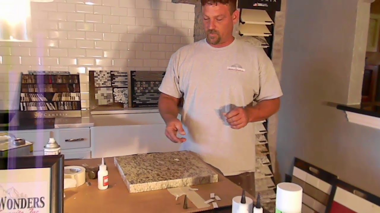 How To Seam And Repair Granite Countertops With Hot Stuff Ca Glue At Natural Wonders