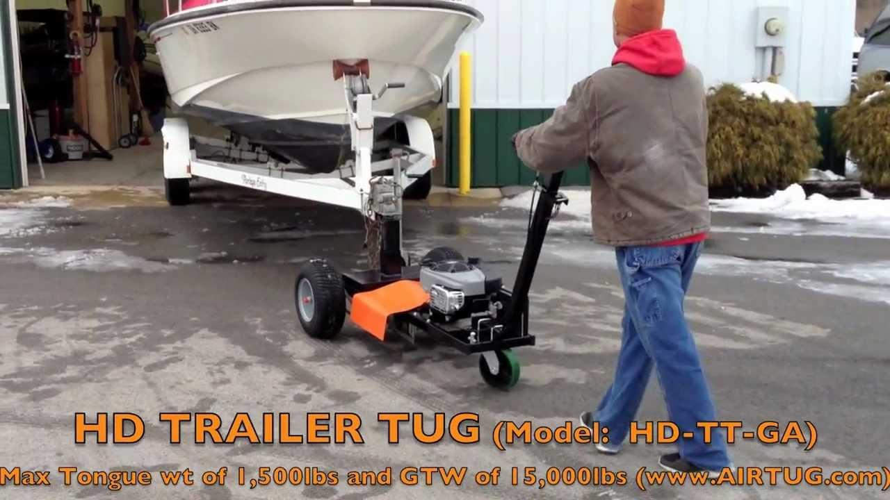 Airtug Trailer TugHDGA  moving dual axle boat trailer