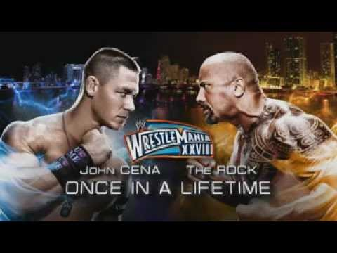 WWE Once In A Lifetime John Cena vs The Rock - We Are Young (WrestleMania 28)