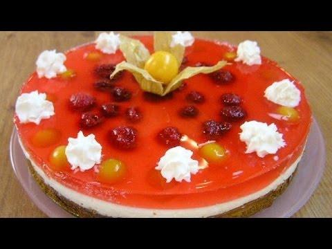 видео рецепт торт желе
