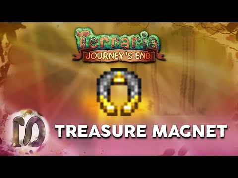 Treasure Magnet - Terraria 1.4 Journey's End - How To Get The Treasure Magnet - EXTEND PICKUP RANGE