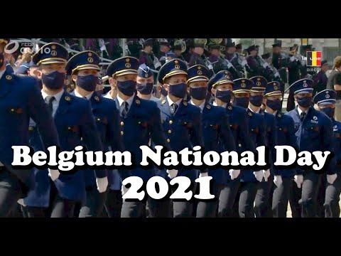 Belgium National Day | Royal Belgium Family attending Military and Civilian parade | 21 July 2021