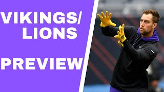 Vikings - Lions preview: Big opportunities for the Minnesota Vikings in this NFC North matchup!