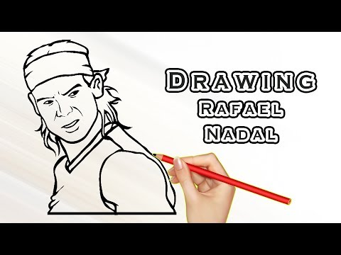 Drawing Rafael Nadal Drawing Famous People Draw Easy For Kids Youtube
