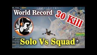 Dynamo Solo Vs Squad   30 kill In Asia Server Pubg Mobile World Record