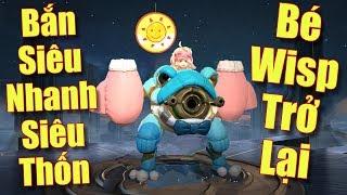 [Gcaothu] Trùm late game Wisp bắn siêu nhanh siêu thốn - Cân 3 với sức mạnh không ngờ