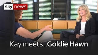 kay meets hollywood actress goldie hawn