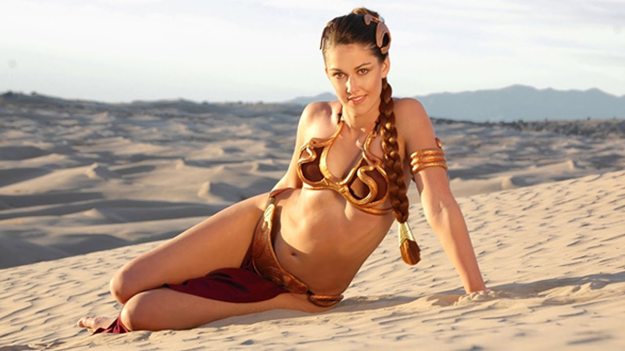 wars cosplay leia slave Star princess