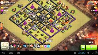 Clash of Clans - Lavaloonion - 3 Stars Attack - TH9 - Clan Wars Replay EP1