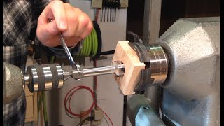 Threading A Glue Block With The Beall Lathe Spindle Tap