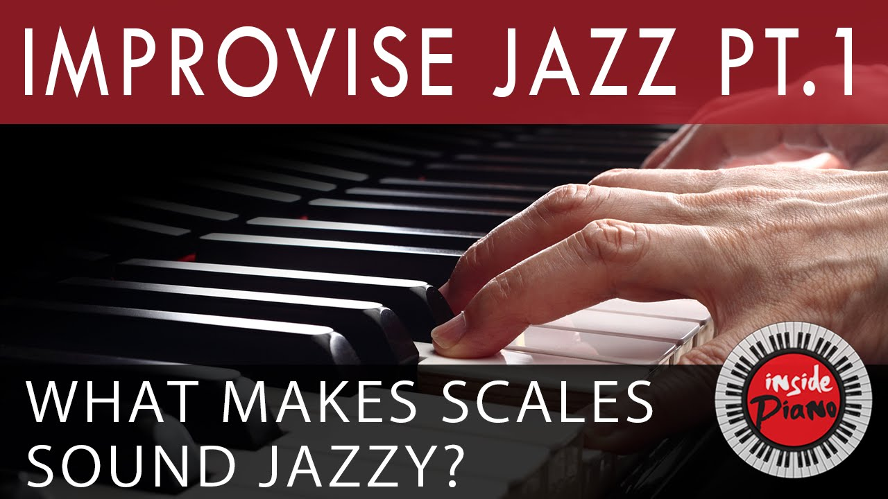 How to improvise Jazz Piano  Part 1  The Bebop Scale