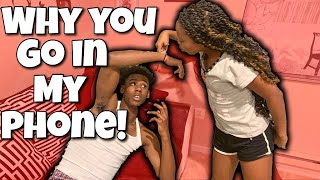 CONFRONTING MY BROTHER ABOUT SNEAKING IN MY PHONE!!!