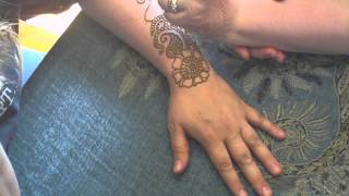 Paisley and Flower Henna Design
