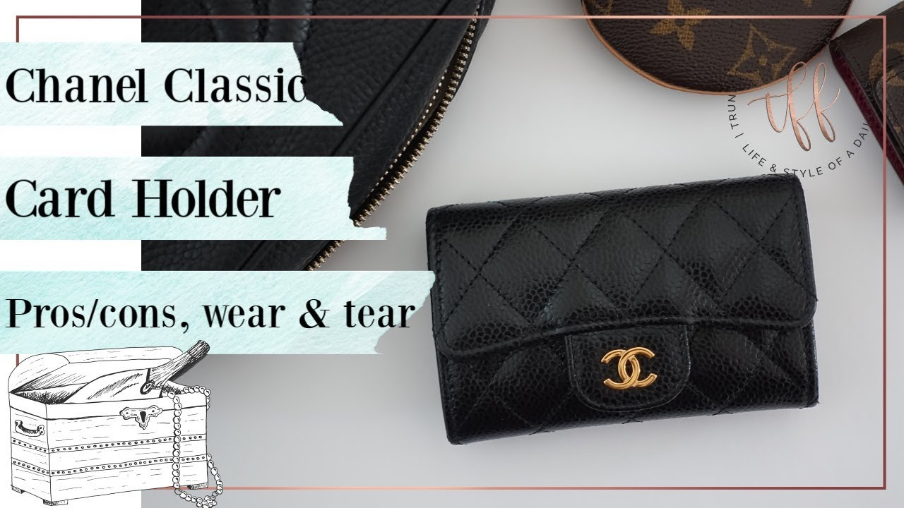c90b6921a42f Chanel Classic Card Holder   Pros & Cons, Wear & Tear, Review - YouTube
