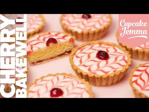 Cherry Bakewell Tart Recipe | Cupcake Jemma Channel