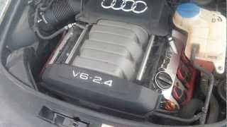 Работа двигателя Ауди А6С6  4F 2.4 BDW