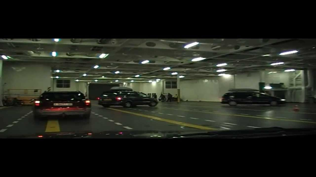 Driving On Board Brittany Ferries Mv Armorique Plymouth England