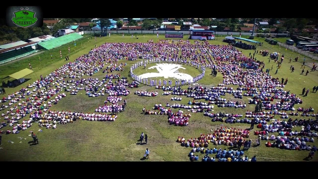 Ribuan Anak Papua Mewarnai Gambar Garuda Reportase News