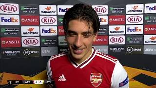 Back from injury and captaining Arsenal, a delighted Héctor Bellerín spoke post-match