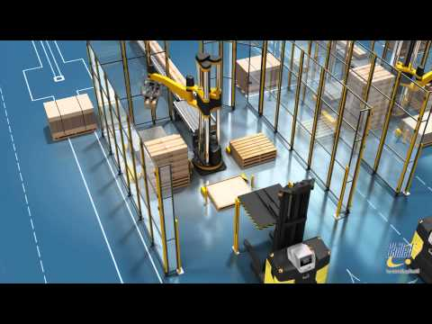 Skilled 504 palletizing robots with AGVs
