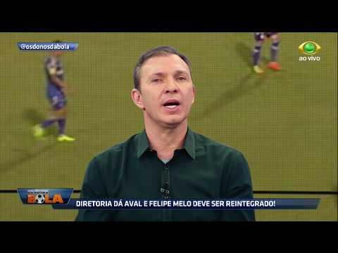 Velloso: Felipe Melo Não Volta A Jogar Com Cuca No Comando